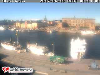 Webbkamera - Gamla Stan, Strömmen, Stockholms Slott